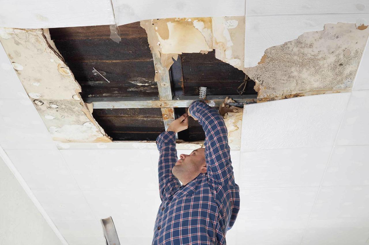 Lekkage Plafond Woonkamer : De gevaren bij lekkages werkveiligheidswijzer