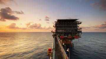 oliebron op zee