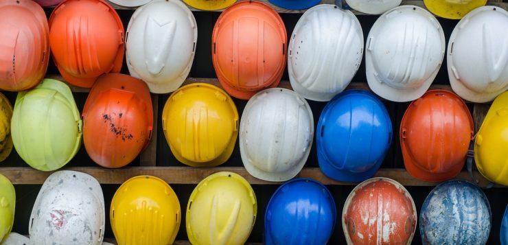 helmen voor in de bouw